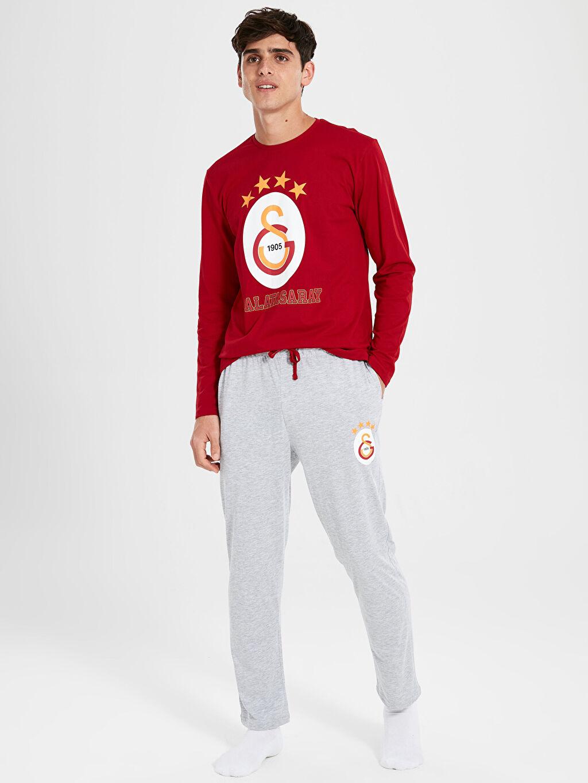 Kırmızı Standart Kalıp Galatasaray Pijama Takımı 9WP597Z8 LC Waikiki