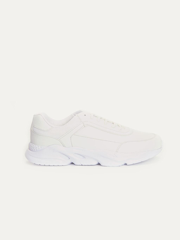 Beyaz Erkek Kalın Taban Spor Ayakkabı 9WR109Z8 LC Waikiki