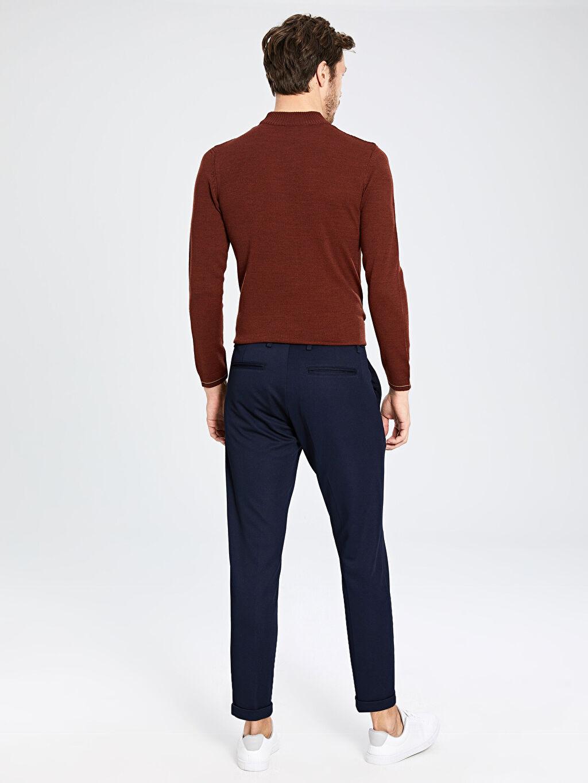 %97 Polyester %3 Elastan Slim Fit Armüllü Pantolon
