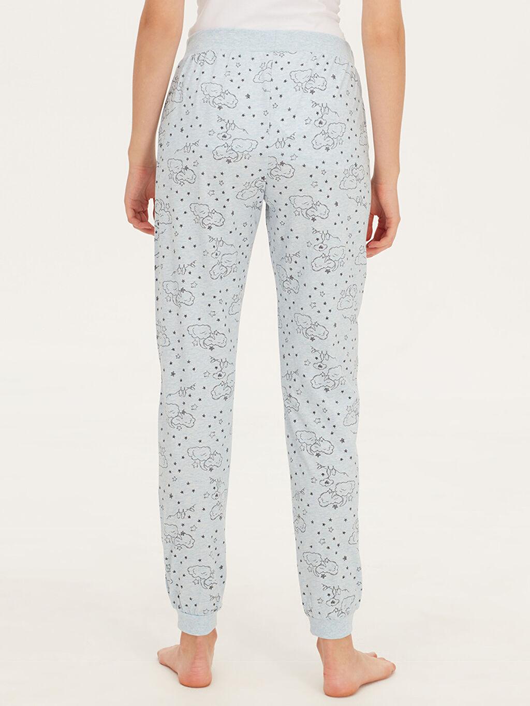 Kadın Desenli Jogger Pijama Alt