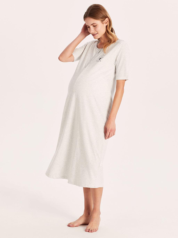 %84 Pamuk %16 Polyester İç Giyim Hamile Gecelik