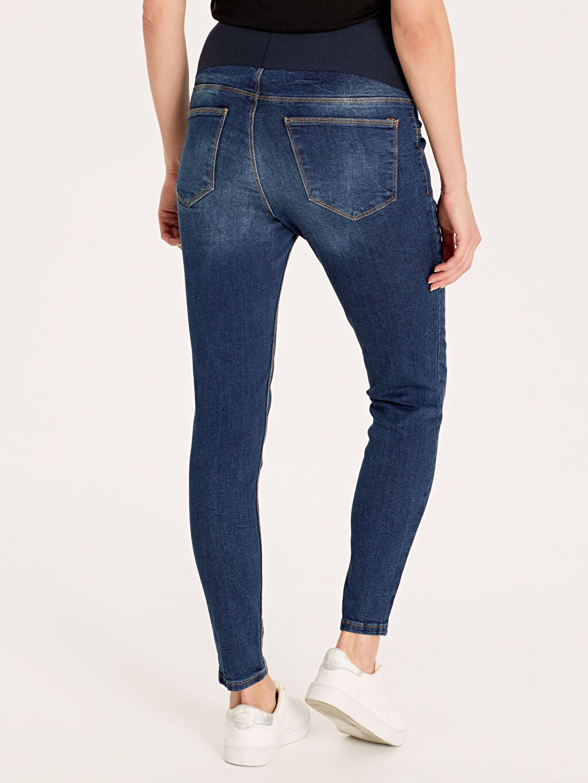 %98 Pamuk %2 Elastan Skinny Hamile Pantolon