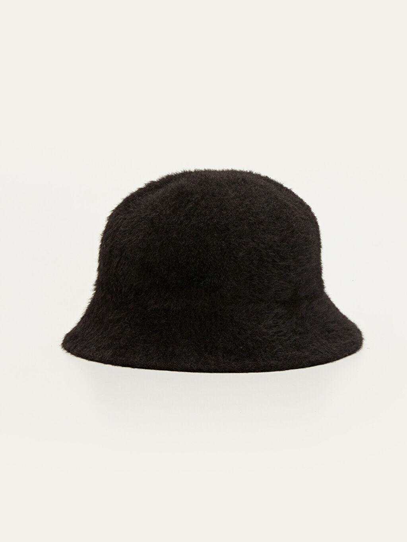 Siyah Tay Tüyü Bucket Şapka 9W4990Z8 LC Waikiki