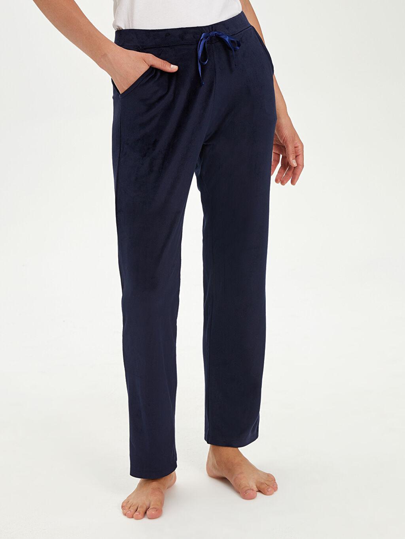 Kadın Kadife Pijama Alt