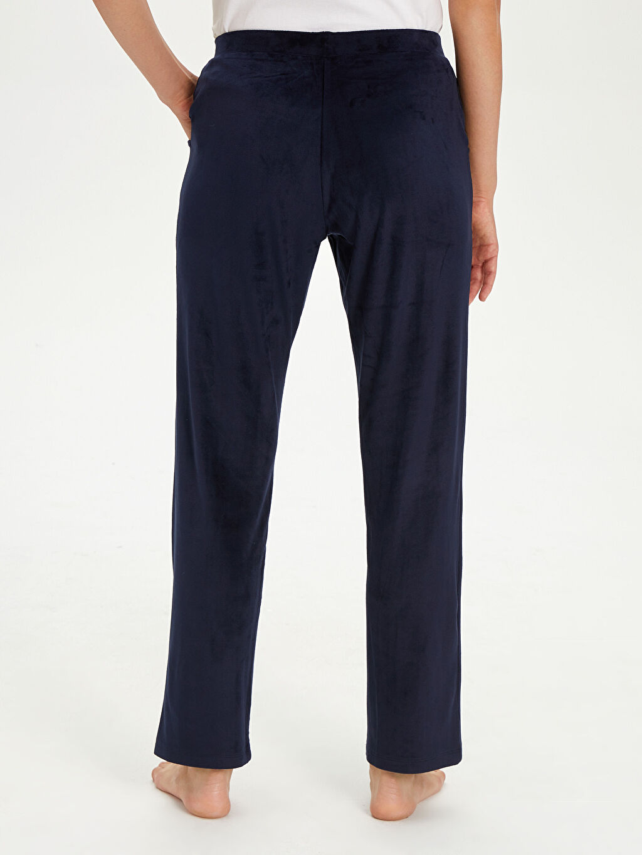 %94 Polyester %6 Elastan Kadife Pijama Alt
