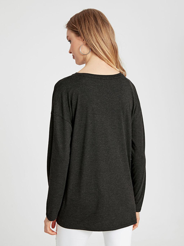 Kadın V Yaka Hamile Tişört
