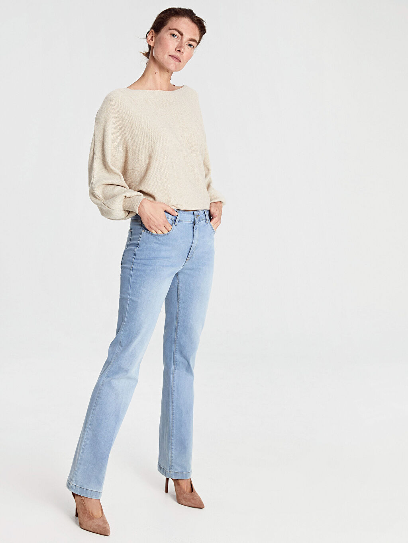 Kadın Çizme Paça Jean Pantolon
