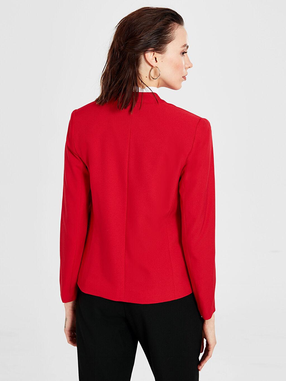 Kadın Yakasız Blazer Ceket