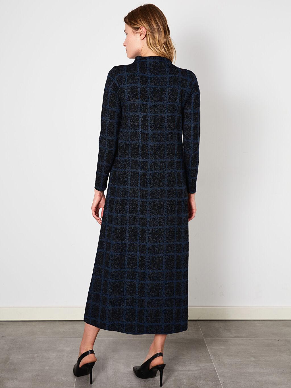 %69 Polyester %2 Elastan %29 Viskoz A Kesim Desenli Uzun Elbise