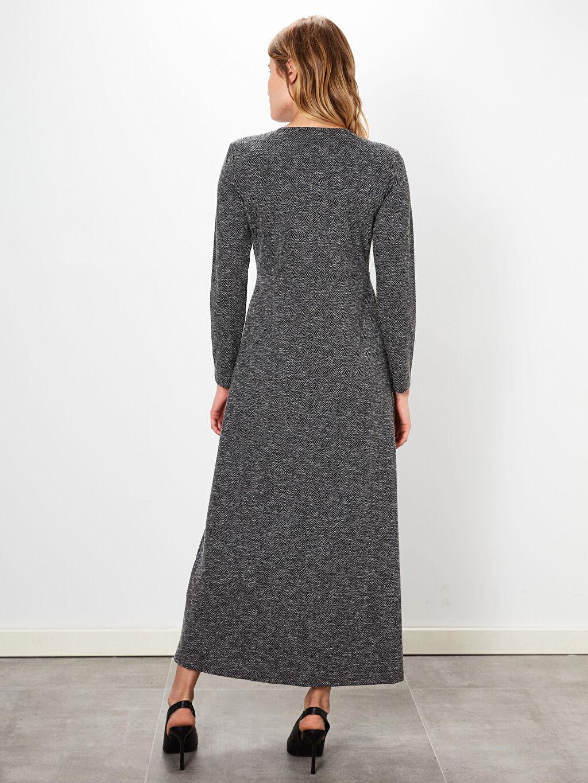 Kadın A Kesim Desenli Elbise