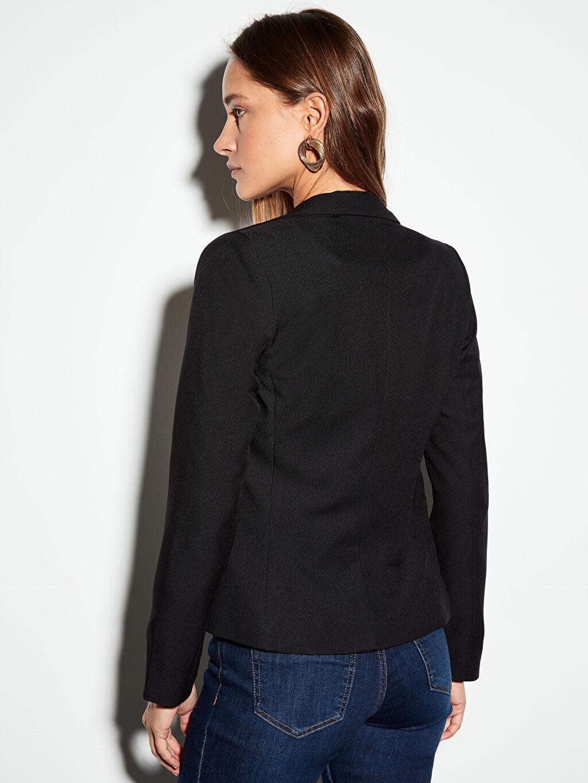 Kadın Dokulu Kumaştan Blazer Ceket