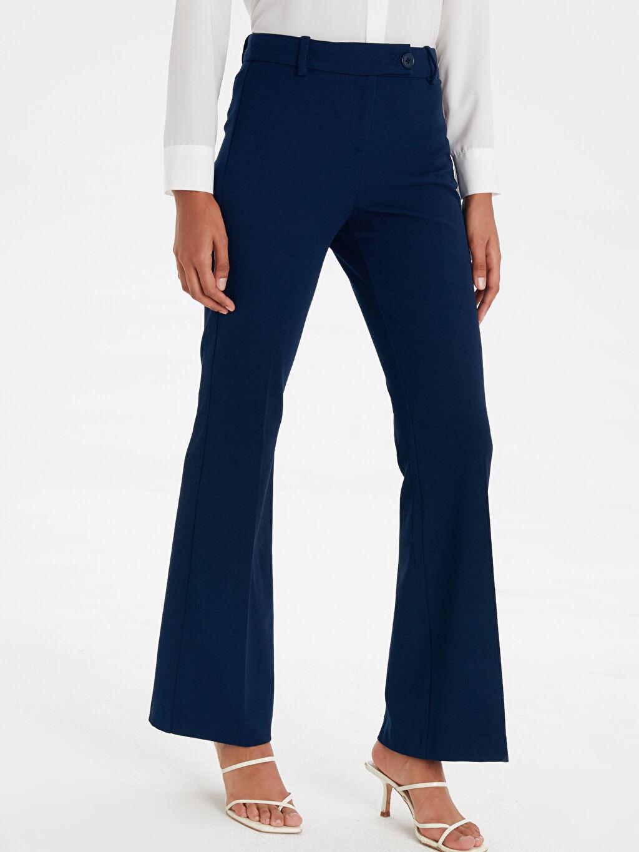 %62 Polyester %33 Viskon %5 Elastan Normal Bel Esnek Standart Normal Bel Esnek Gabardin Pantolon