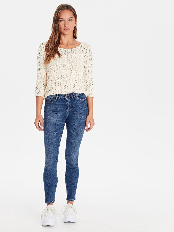 %98 Pamuk %2 Elastan Normal Bel Dar Jean Standart Skinny Jean Pantolon