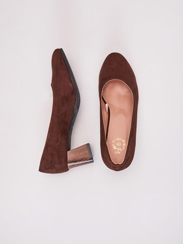 Diğer malzeme (poliüretan) Diğer malzeme (poliüretan) Topuklu Ayakkabı Kadın Süet Topuklu Ayakkabı