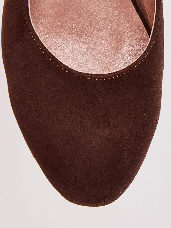 LC Waikiki Kahverengi Kadın Süet Topuklu Ayakkabı