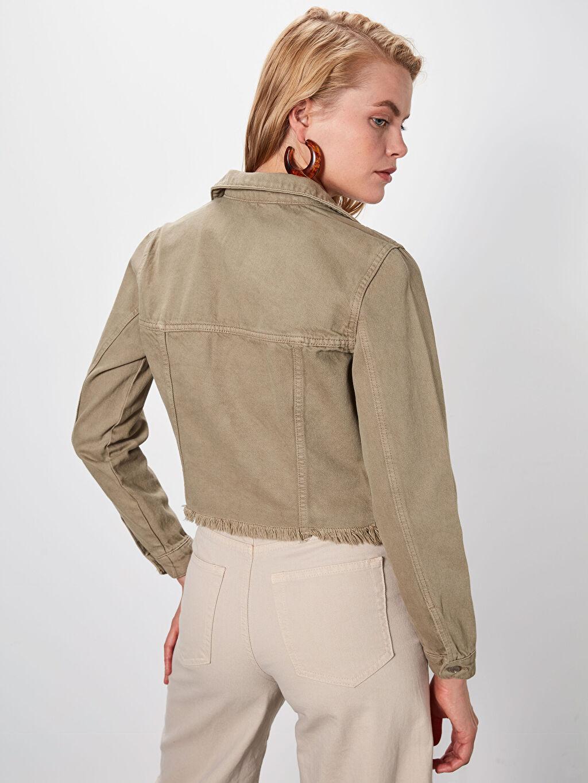 %100 Pamuk Kısa Jean Ceket