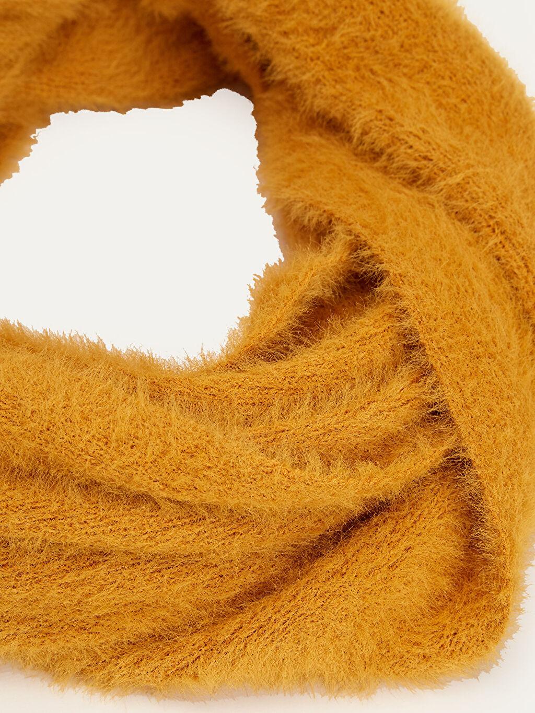 %100 Poliamid Orta Kalınlık Atkı Triko Pelüş Boyunluk