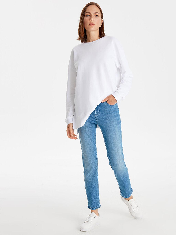 %91 Pamuk %6 Polyester %3 Elastan Dar Jean Esnek Skinny Jean Pantolon