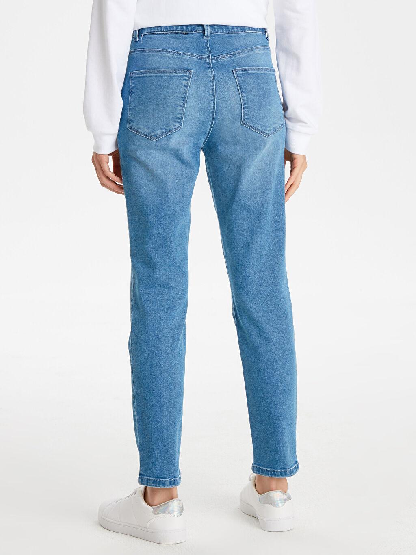 %91 Pamuk %6 Polyester %3 Elastan Esnek Skinny Jean Pantolon