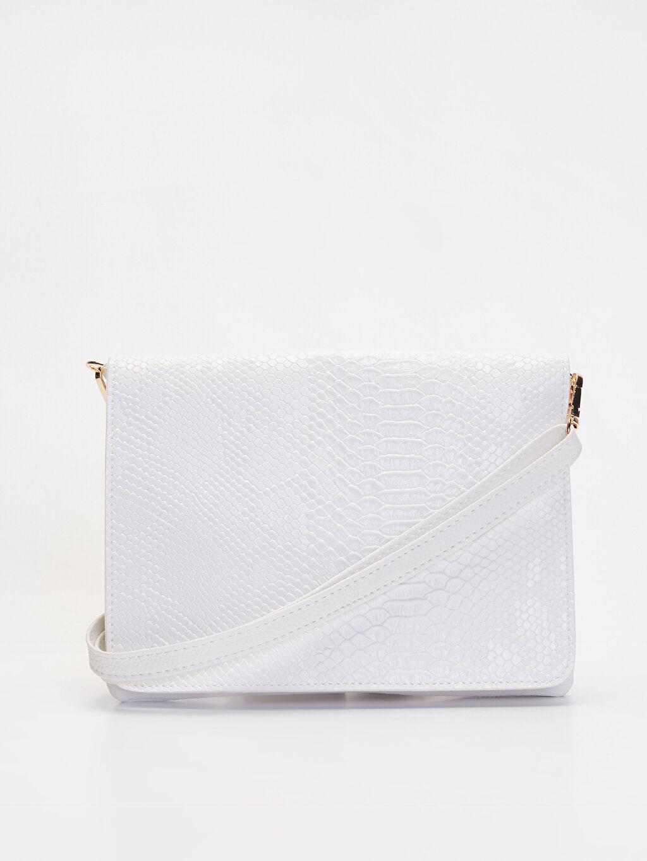Beyaz Deri Görünümlü Kol Çantası 9WO005Z8 LC Waikiki
