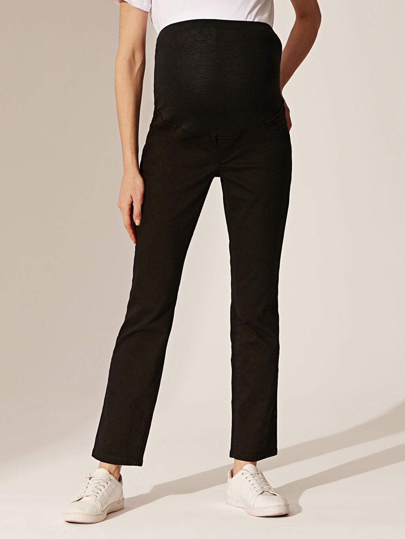 %92 Pamuk %6 Polyester %2 Elastan Düz Günlük Jean Orta Kalınlık Hamile Pantolon