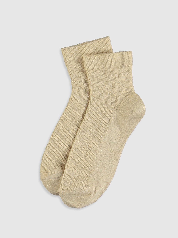%67 Pamuk %23 Poliamid %8 Metalik iplik %2 Elastan Günlük Orta Kalınlık Soket Çorap Soket Çorap