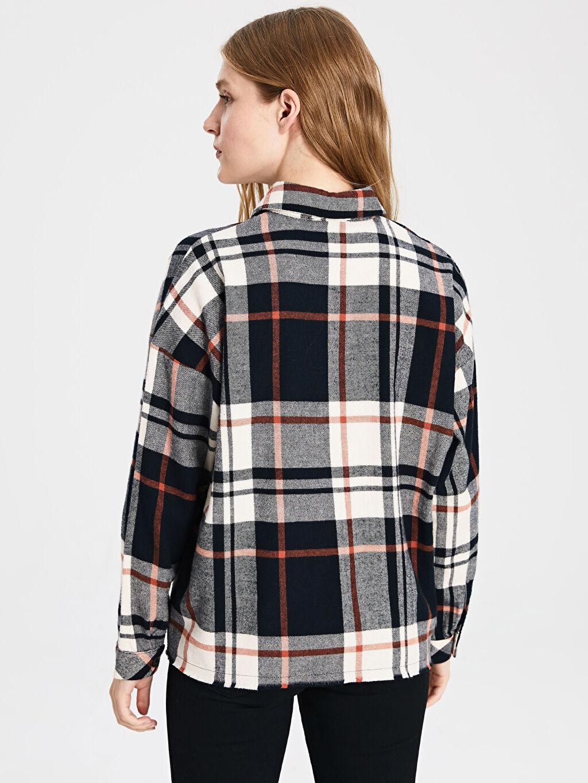 Kadın Pamuklu Ekose Gömlek