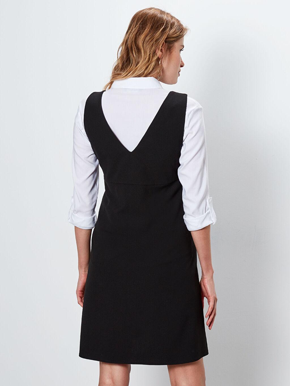Kadın V Yaka Hamile Elbise