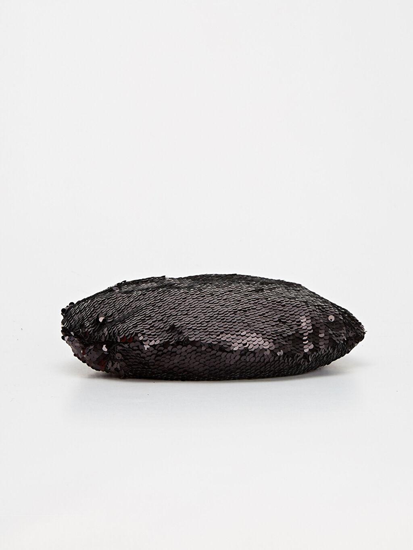 Siyah Pul Payetli Ressam Şapka 9WQ152Z8 LC Waikiki