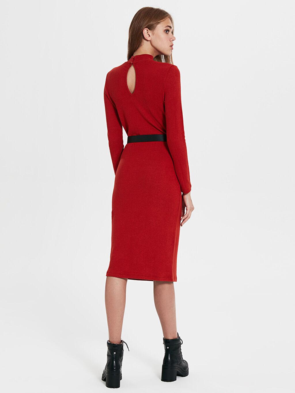 Kadın Kemerli Uzun Elbise
