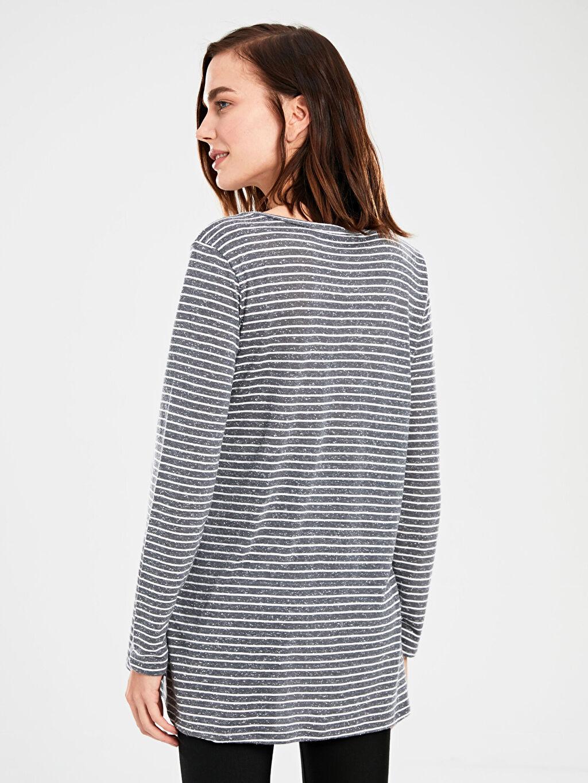 Kadın Çizgili Hamile Tişört