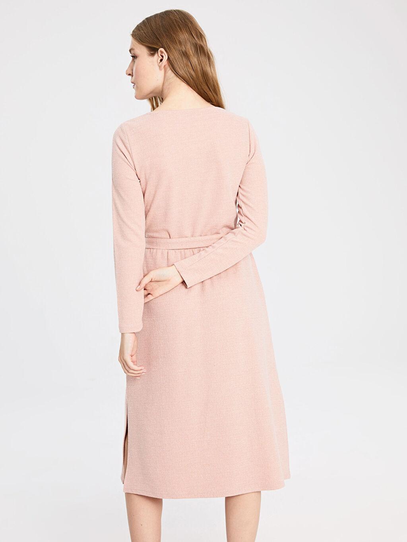 Kadın Kuşaklı Esnek Elbise
