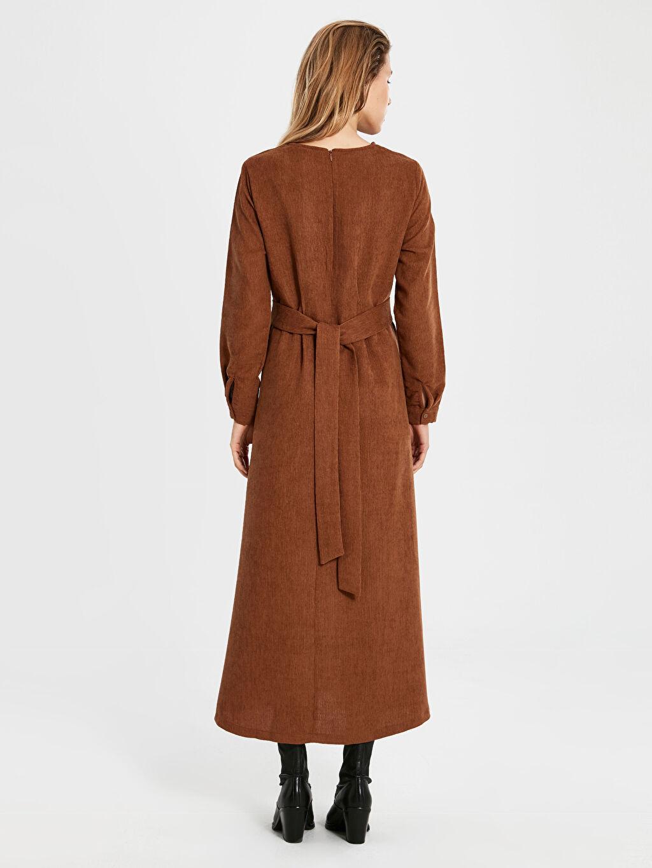 Kadın Kadife Uzun Kloş Elbise
