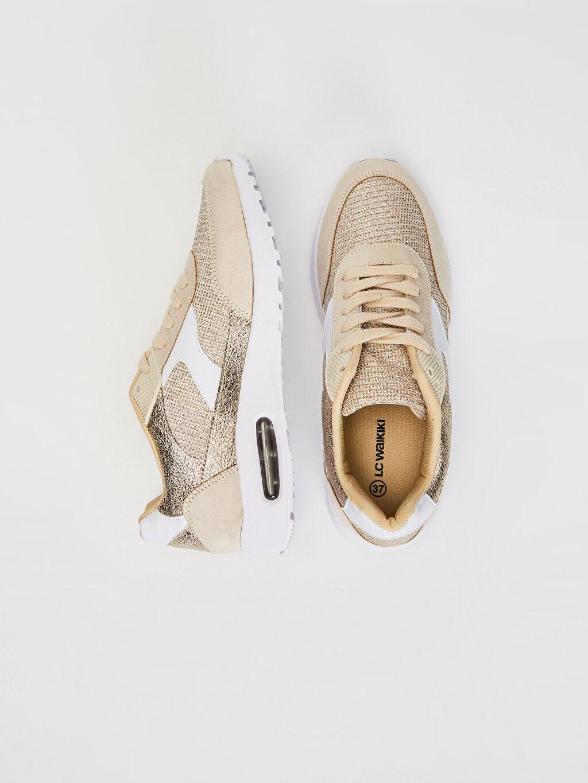 Tekstil malzemeleri Diğer malzeme (poliüretan) Tekstil malzemeleri Diğer Standart Sneaker Konforlu İç Taban 4 cm Yuvarlak Burun Kadın Air Taban Günlük Spor Ayakkabı