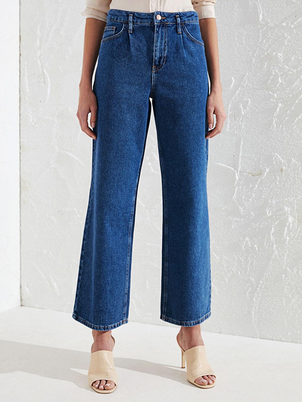 Kadın Yüksek Bel Jean Pantolon