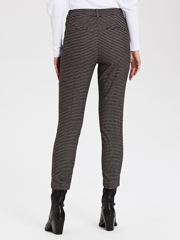 Kadın Ekose Cigarette Kumaş Pantolon