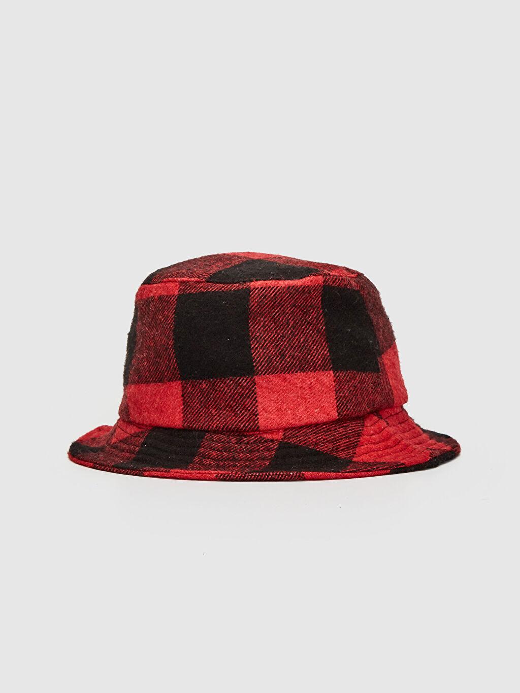 Kırmızı Kaşe Bucket Şapka 9WU699Z8 LC Waikiki