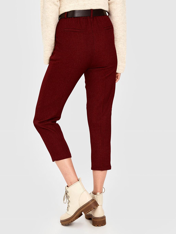 Kadın Quzu Kemerli Bilek Boy Havuç Pantolon