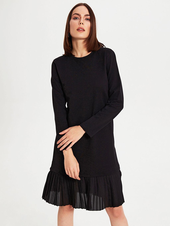 Kadın Pileli Esnek Elbise