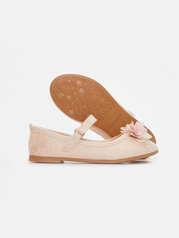 Kız Çocuk Kız Çocuk Çiçekli Babet Ayakkabı