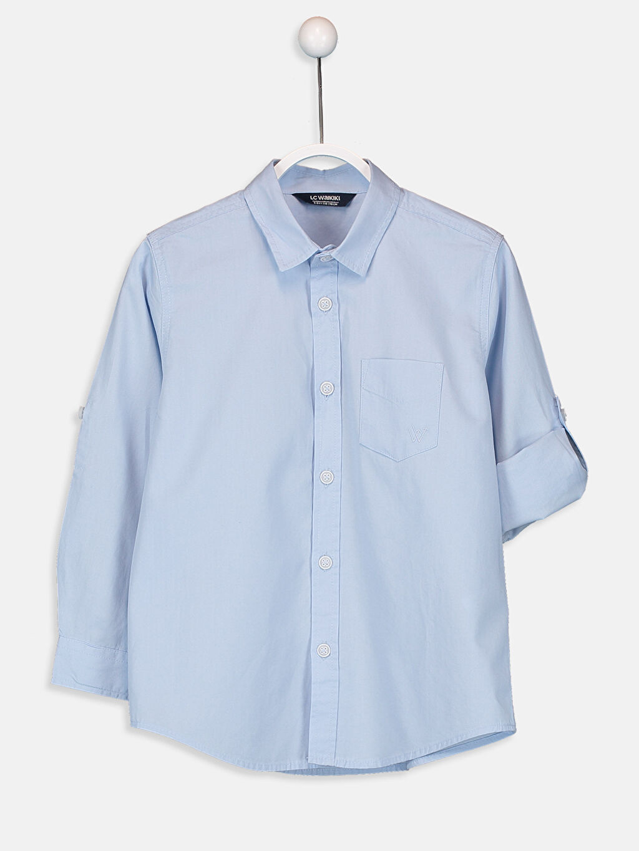 Mavi Erkek Çocuk Poplin Gömlek 9W0635Z4 LC Waikiki