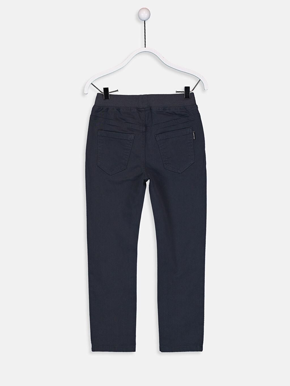 %96 Pamuk %4 Elastan Normal Bel Dar Erkek Çocuk Slim Gabardin Pantolon