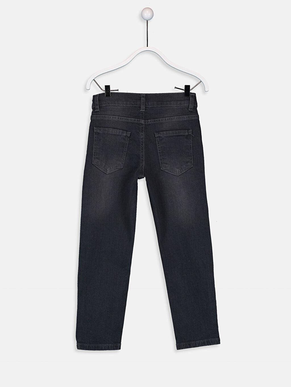 %99 Pamuk %1 Elastan Aksesuarsız Normal Bel Astarsız Dar Jean Erkek Çocuk Slim Jean Pantolon