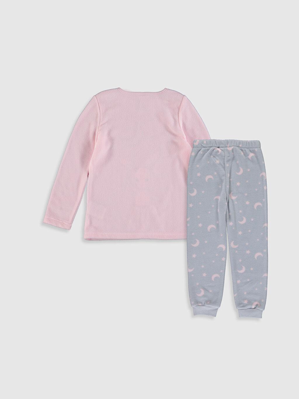 %100 Polyester Polar Standart Pijama Takım Kız Çocuk Nakışlı Polar Pijama Takımı