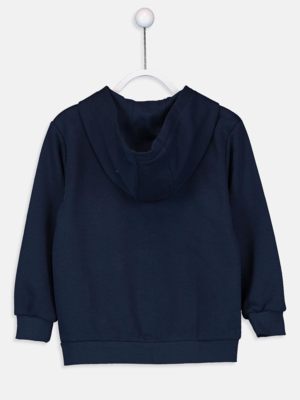 %67 Pamuk %33 Polyester  Erkek Çocuk Fermuarlı Kapüşonlu Sweatshirt