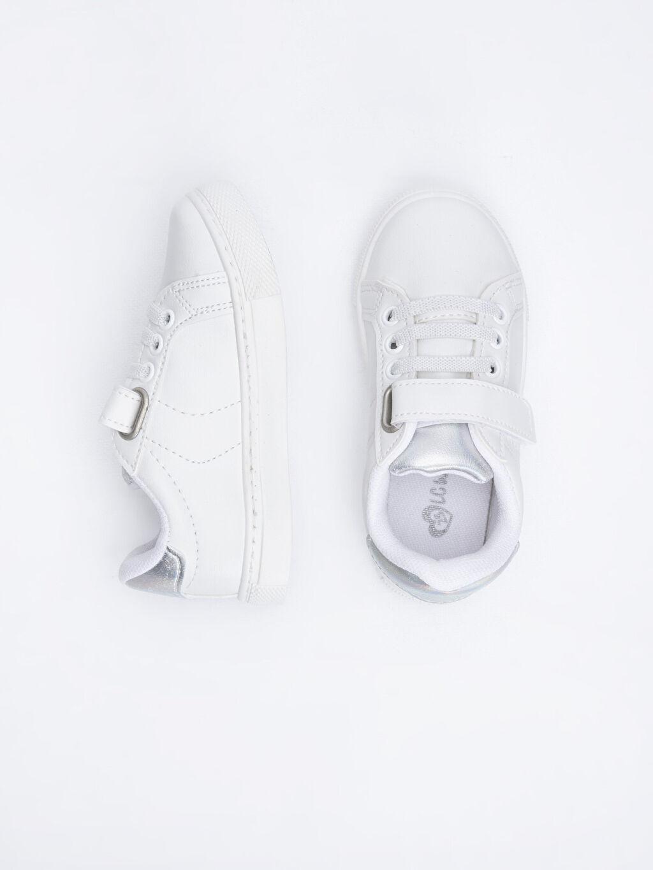%0 Diğer malzeme (poliüretan) Polyester Astar Bağcık ve Cırt Cırt Işıksız Sneaker Kız Çocuk Günlük Spor Ayakkabı