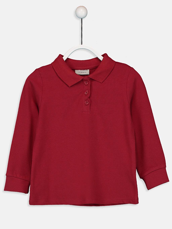 Kırmızı Kız Çocuk Pamuklu Basic Tişört 9W1440Z4 LC Waikiki