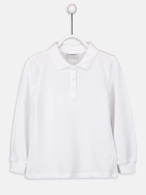 Kız Çocuk Kız Çocuk Polo Yaka Basic Tişört 2'li