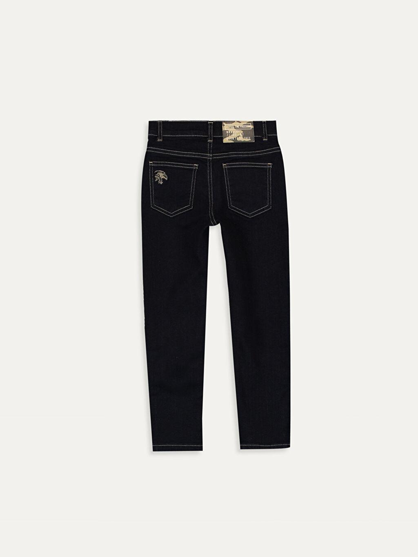 %98 Pamuk %2 Elastan Baskılı Beş Cep Aksesuarsız Normal Bel Astarsız Dar Jean Erkek Çocuk Skinny Jean Pantolon
