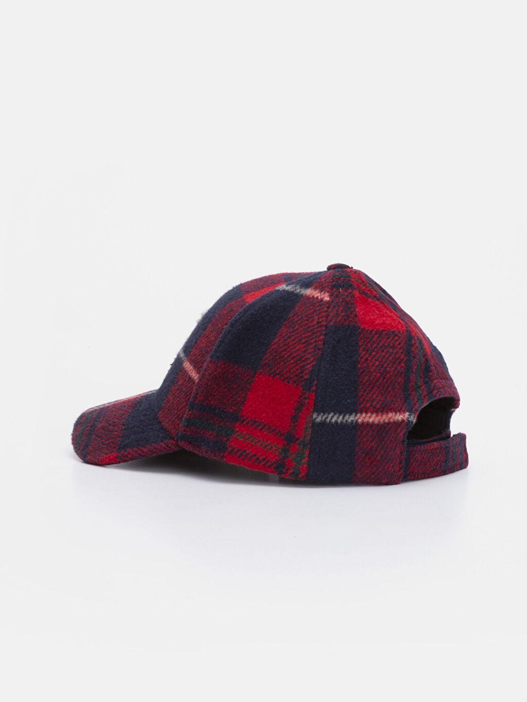 Erkek Çocuk Erkek Çocuk Nakışlı Ekose Şapka